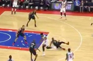 Down Goes Paul: Pistons Big Man Andre Drummond Breaks Chris Paul's Ankles (Video)