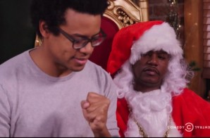 Cam'Ron Plays Office Santa Claus On The Nightly Show (Video)