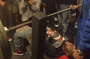 Kevin Hart Gets His Weight Up And Bench Presses 225 Lbs! (Video)