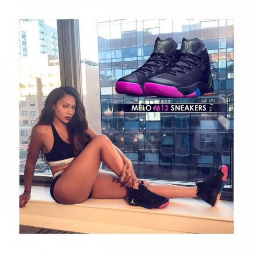 "CYI7KG6WQAA_Y2z-500x500 Stand By Your Man: Lala Anthony Flaunts Her Husband Carmelo Anthony's Air Jordan ""Melo M12"" (Photos)"