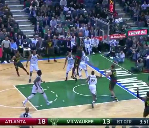 Paul-M-500x429 Deer In Headlights: Atlanta Hawks Star Paul Millsap Posterizes Milwaukee Bucks PF John Henson (Video)