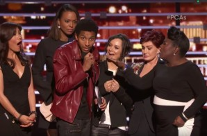 Fan Crashes Stage To Shoutout Kevin Gates & Kanye West At People's Choice Awards! (Video)