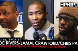 HHS1987 Sports: Doc Rivers, Jamal Crawford & Chris Paul Postgame Recap (Los Angeles Clippers vs. Atlanta Hawks) (Video)