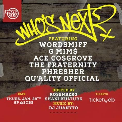 unnamed-2-8 Hot 97 Presents Who's Next At SOB's Feat. Wordsmiff, Phresher, G Mim$ & More