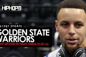 Steph Curry & Steve Kerr Talk Anderson Varejao, Finishing (72-10) Or Better, Steph's Pre-Game Music Selection & More During Warriors Shoot Around At Philips Arena (Video)