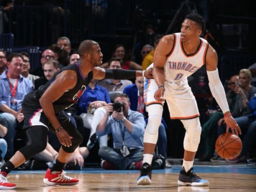 CdKS4LiWEAAJzOt-500x375 Thunder Up: Russell Westbrook Racks Up 20 Assist & Another Triple Double Against the Clippers (Video)