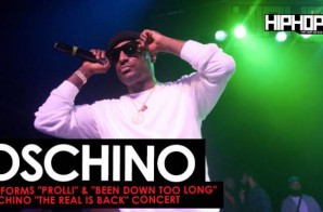 "Oschino Performs ""Prolli"" & ""Been Down Too Long"" at his ""The Real is Back"" Concert (Video)"