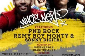 Hot 97's Who's Next Live ft. PNB Rock, Remy Boy Monty & Sonny Digital @ SOB's (NYC)