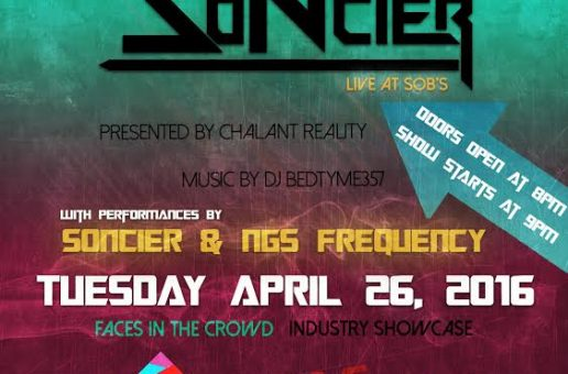 """Soncier To Perform At SOB's For """"Faces In The Crowd"""""""