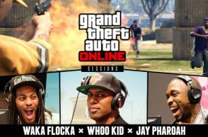 Waka Flocka x Jay Pharaoh x DJ Whoo Kid Play GTA V At Rockstar Games HQ On 420 (Video)