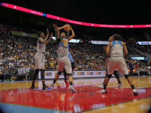 angel-driving-500x375 The Atlanta Dream Fall Short To The Minnesota Lynx (110-78); The Dream Host The Connecticut Sun This Sunday