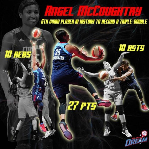 Cm83cihUsAEtsSp-500x500 She Got Game: Atlanta Dream Star Angel McCoughtry Records The 6th Triple Double In WNBA History Against The Dallas Wings