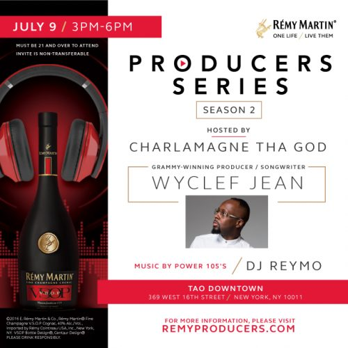 RemyProducers_S2R2_wyclef_2016-07-09-500x500 Wyclef Jean To Headline RÉMY MARTIN Producer Competition (NYC)