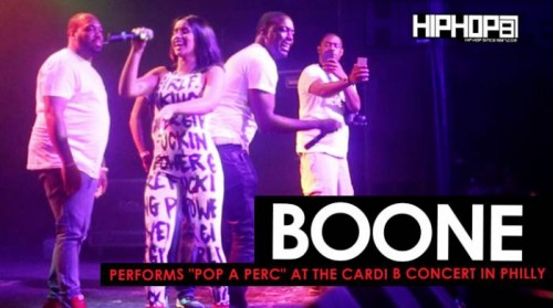 "boone-cardi-b-500x279 Cardi B Brings out Boone to Perform ""Pop A Perc"" at her ""Underestimated"" Tour in Philly"
