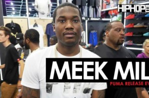 Meek Mill Debuts New Sneakers & Signs Autographs At The Puma Lab In-Store Release Event