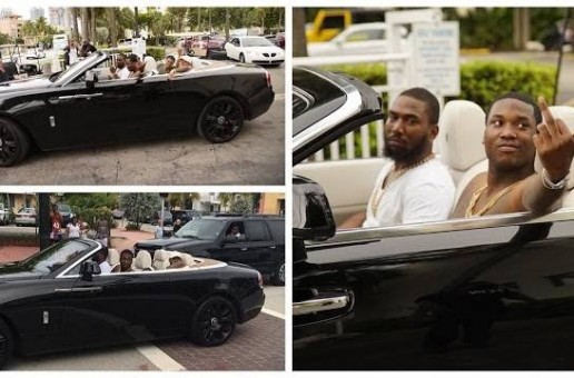 Meek Mill & The Chasers Previewing DC4 Live From The Rolls Royce On Ocean Drive (Video)
