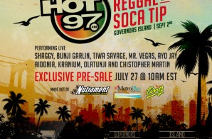 Event Alert: Hot 97's On Da Reggae & Soca Tip 2016 (NYC) w/ Shaggy, Ayo Jay, Mr. Vegas & More!