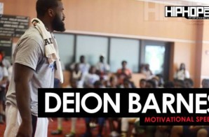 Deion Barnes of The New York Jets Motivational Speech at Sharrif Floyd's Football Camp In Philly