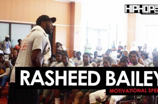 Rasheed Bailey of The Jacksonville Jaguars Motivational Speech at Sharrif Floyd's Football Camp In Philly