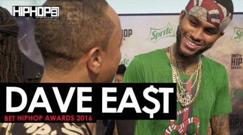 "D.East_-500x279 Dave East Talks 'Kairi Chanel', The 2016 BET Cypher, Performing at Made in America, ""Hate Me Now"" Tour & More on the 2016 BET Hip Hop Awards Green Carpet with HHS1987 (Video)"