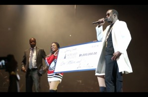 Diddy Gives Back; Presents Howard University With Million Dollar Check! (Video)