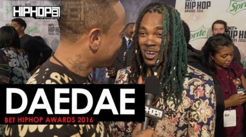 "dae-dae-500x279 Dae Dae Talks ""What U Mean"", ""Spend It"", His Upcoming 'The Definition' Project with London On Da Track & More on the 2016 BET Hip Hop Awards Green Carpet with HHS1987 (Video)"