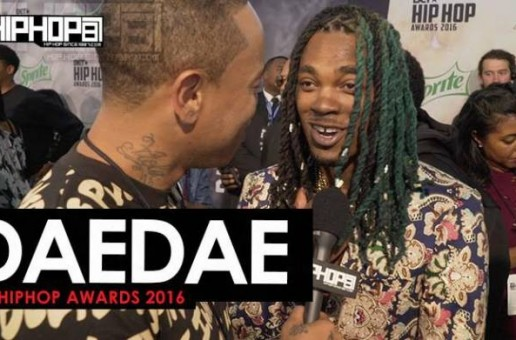 "Dae Dae Talks ""What U Mean"", ""Spend It"", His Upcoming 'The Definition' Project with London On Da Track & More on the 2016 BET Hip Hop Awards Green Carpet with HHS1987 (Video)"