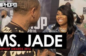 Ms. Jade Talks The 2016 BET Cypher, Her Upcoming Project 'December 25th' & More on the 2016 BET Hip Hop Awards Green Carpet with HHS1987 (Video)
