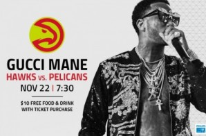 Win 2 Tickets To See Gucci Mane Perform at Philips Arena When The Atlanta Hawks Face the New Orleans Pelicans