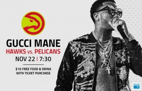 Gucci--500x320 Win 2 Tickets To See Gucci Mane Perform at Philips Arena When The Atlanta Hawks Face the New Orleans Pelicans