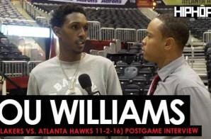 Lou Williams Talks Defeating The Atlanta Hawks, Luke Walton's Guidance & Facing The Golden State Warriors with HHS1987 (L.A. Lakers vs. Atlanta Hawks Postgame 11-2-16) (Video)