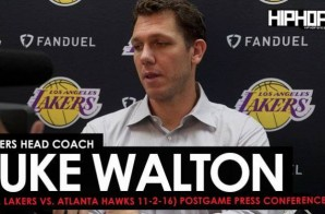 Lakers Head Coach Luke Walton Postgame Press Conference (L.A. Lakers vs. Atlanta Hawks 11-2-16) (Video)