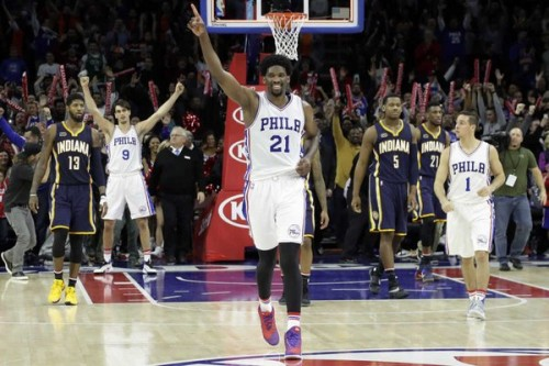 sixers-500x333 Winless No More: The Philadelphia Sixers Defeat the Indiana Pacers (109-105) in Overtime (Video)