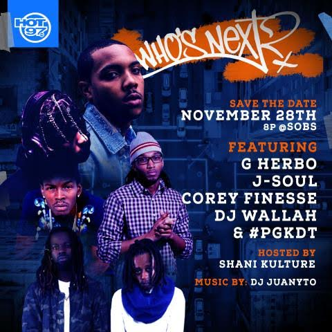 unnamed-22 Hot 97 Presents Who's Next Live w/ DJ Wallah, G Herbo, J-Soul, Corey Finesse and #PGKDT at SOB's