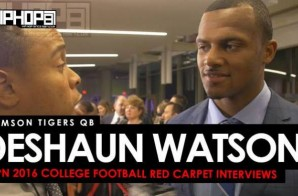Clemson Tigers QB Deshaun Watson the 2016 Heisman, the 2016 College Football Playoffs & More on the ESPN 2016 College Football Awards Red Carpet (Video)