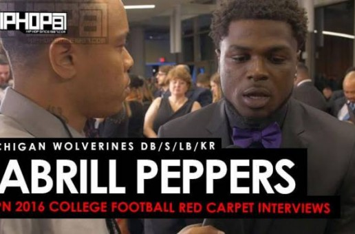 Michigan Wolverines DB/S/LB/KR Jabrill Peppers Talks The Heisman, Jim Harburgh, The Orange Bowl & More on the ESPN 2016 College Football Awards Red Carpet (Video)