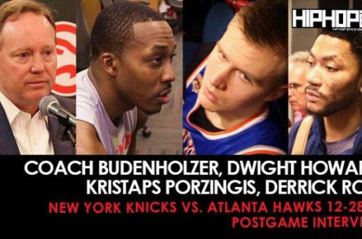 Coach Budenholzer, Dwight Howard, Kristaps Porzingis, Derrick Rose (New York Knicks vs. Atlanta Hawks 12-28-16 Postgame Interviews)