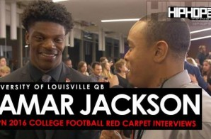 University of Louisville QB Lamar Jackson Talks the Citrus Bowl, the Upcoming Heisman Awards & More On The ESPN 2016 College Football Awards Red Carpet (Video)