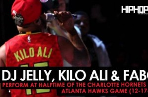 DJ Jelly, Kilo Ali & Fabo Perform at Halftime of the Charlotte Hornets vs. Atlanta Hawks Game (12-17-16)