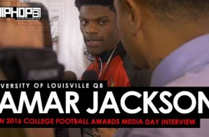 University of Louisville QB Lamar Jackson Talks Comparisons To Michael Vick, His Love For EA Sports Madden Football, Possibly Winning the Heisman Trophy, Facing LSU & More at ESPN's 2016 College Football Awards Media Day (Video)
