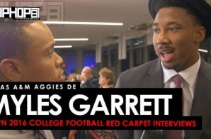 Texas A&M Aggies DE Myles Garrett Talks the Chuck Bednarik Award, Playing In The SEC & More at the ESPN 2016 College Football Awards Red Carpet (Video)