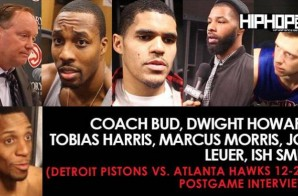 Coach Bud, Dwight Howard, Tobias Harris, Marcus Morris, Jon Leuer, Ish Smith (Detroit Pistons vs. Atlanta Hawks 12-2-16 Postgame Interviews)