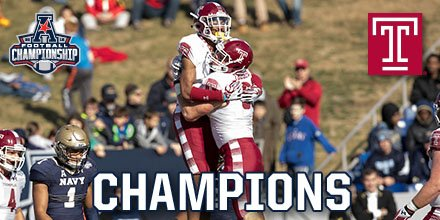 Temple Made: The Temple Owls Are The 2016 American Athletic Conference Champions