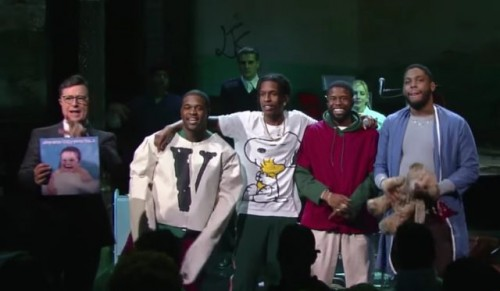 "ASAP-Mob-on-Colbert-1484321917-640x373-500x291 A$AP Mob Take Over ""The Late Show With Stephen Colbert"""