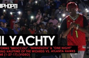 "Lil Yachty Performs ""Broccoli"", ""Minnesota"" & ""One Night"" During Halftime of the Wizards vs. Atlanta Hawks Game (1-27-17) (Video)"