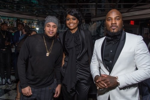 NEW YORK, NY - JANUARY 05: (EXCLUSIVE COVERAGE) Actor/Singer Rotimi, Author and public relations strategist Karen Civil and Rap Artist Jeezy attend the Forbes Dinner Honoring Jeezy at the Hunt & Fish Club on January 5, 2017 in New York City. (Photo by Mark Sagliocco/Getty Images)