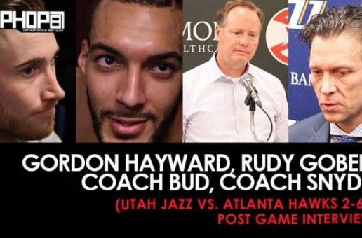 Gordon Hayward, Rudy Gobert, Coach Bud, Coach Snyder (Utah Jazz vs. Atlanta Hawks 2-6-17 Post Game Interviews)