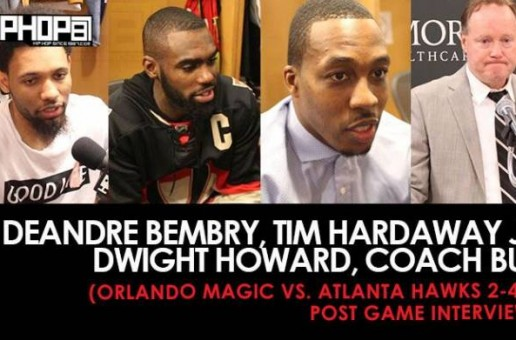 DeAndre Bembry, Tim Hardaway Jr, Dwight Howard, Coach Bud (Orlando Magic vs. Atlanta Hawks 2-4-17 Post Game Interviews) (Video)