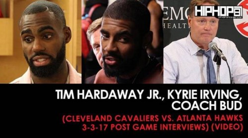 HawksCavs-locker-500x279 Tim Hardaway Jr., Kyrie Irving, Coach Bud (Cleveland Cavaliers vs. Atlanta Hawks 3-3-17 Post Game Interviews) (Video)