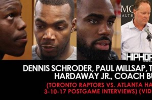 NBA: Dennis Schroder, Paul Millsap, Tim Hardaway Jr., Coach Bud (Toronto Raptors vs. Atlanta Hawks 3-10-17 Postgame Interviews) (Video)